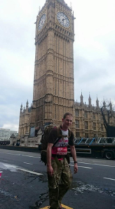 Liam at Big Ben