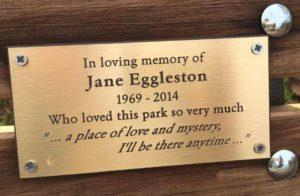 Jane's plaque
