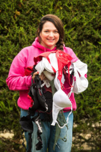 Helen Moye has collected 10,000 bras for charity.